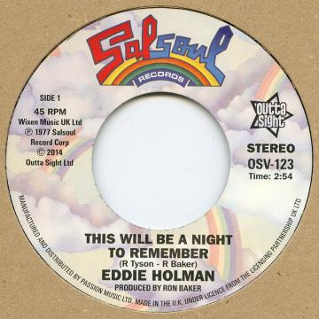 Eddie Holman - This Will Be A Night To Remember (7