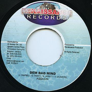 ReggaeCollector com - Agent Sasco (Assassin) - Dem Bad Mind