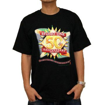 T Shirt (Official) - Studio One 50th Anniversary -- Black XL (Studio One US)