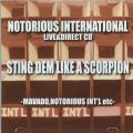 Notorious International - Sting Dem Like A Scorpion (CD-R)