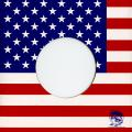 "Card Sleeve - 7"" USA Flag Card #251701 (Import Canada)"