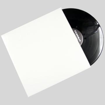 "12""/LP White Plain Jacket without Hole QTY. 10"