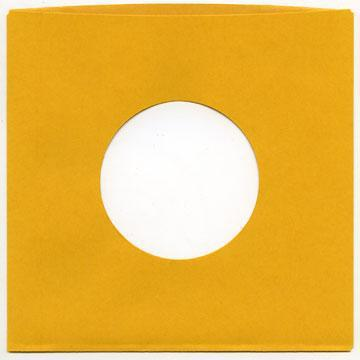 "7"" Gold Heavyweight Paper Sleeve QTY. 50"
