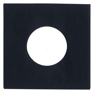 "7"" Black Heavyweight Paper Sleeve QTY. 10"