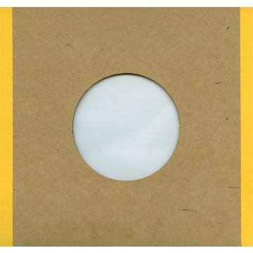 "7"" Handmade Brown Polylined Card  -- Yellow Edge"