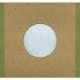 "Polylined Card Sleeve - 7"" Handmade Brown Polylined Card  -- Green Edge"