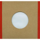 """Polylined Card Sleeve - 7"""" Handmade Brown Polylined Card  -- Red Edge"""