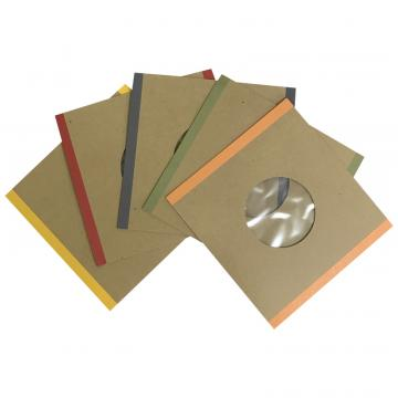 """7"""" Handmade Brown Polylined Card -- All 5 colors QTY. 100"""