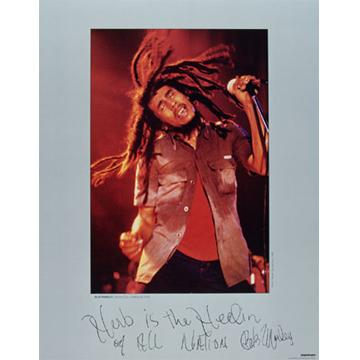 Bob Marley Vintage ポスター: Herb Is The Healin' of All Nation (A1S サイズ)