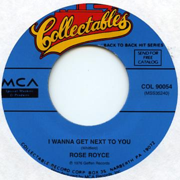 Rose Royce - I Wanna Get Next To You (7