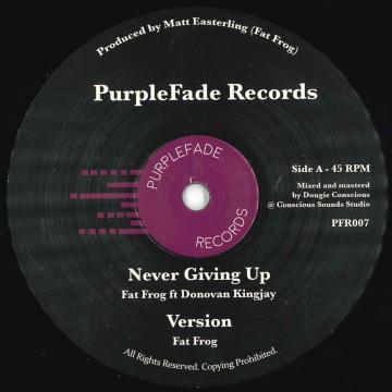 Never Giving Up; Never Giving Up Dub / Never Giving Up Melodica Cut; Never Giving Up Melodica Dub