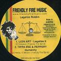 Lion Art; Tippa Irie, Peppery - Legalize It; Humanity