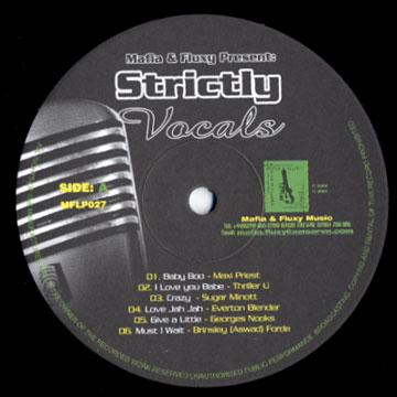 Strictly Vocals (Plane Sleeve)