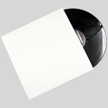"12""/LP White Plain Jacket without Hole"