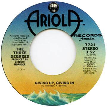 Giving Up, Giving In / Woman In Love