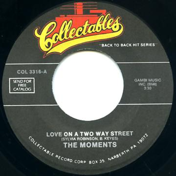 Moments - Love On A Two Way Street (7